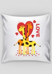 Zakochane Żyrafy - Dekoracyjna poszewka na poduszkę Jaśka
