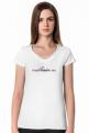 Koszulka damska V-neck I need vitamin sea biała