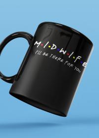 Midwife - kubek czarny
