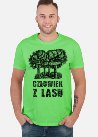 Człowiek z Lasu - Koszulka męska jasnozielona