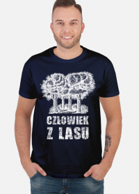 Człowiek z Lasu - Koszulka męska granatowa
