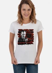 """Koszulka damska """"Rotmistrz Witold Pilecki"""" biała"""