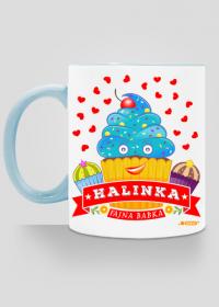 Halinka Fajna Babka - Kubek kolor z imieniem