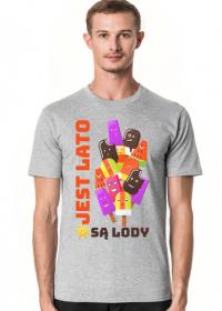 Jest Lato Są Lody - Koszulka męska szara
