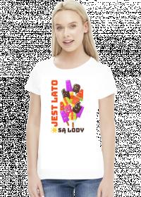 Jest Lato Są Lody - Koszulka damska biała