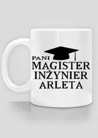 Kubek Pani Magister Inżynier z imieniem Arleta