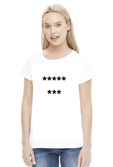 Koszulka damska 8 gwiazdek biała