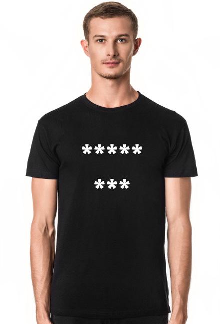 Koszulka męska 8 gwiazdek czarna