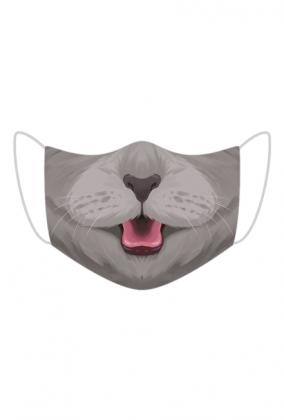 Śmieszna maseczka na twarz - Kotek