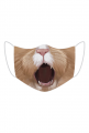 Śmieszna maseczka z nadrukiem - Kotek