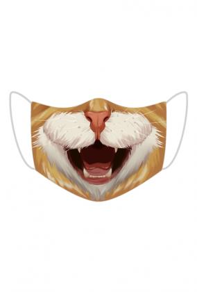 Śmieszna maseczka na twarz - Kot