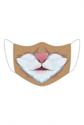 Śmieszna maseczka na  twarz - Koteczek