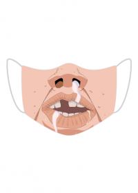 Śmieszna maseczka na twarz - Brzydal