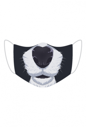 Śmieszna maska na twarz - Pies
