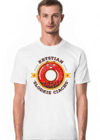 Krystian Słodkie Ciacho - Koszulka męska biała