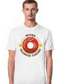 Witek Słodkie Ciacho - Koszulka męska biała
