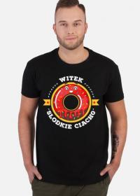 Witek Słodkie Ciacho - Koszulka męska czarna
