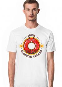 Irek Słodkie Ciacho - Koszulka męska biała