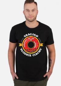 Gracjan Słodkie Ciacho - Koszulka męska czarna