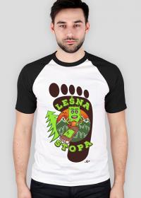 Leśna Stopa - Męska koszulka biała z rękawami kolor