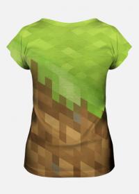 Koszulka Full Print - Minecraft (Grass Block, Dirt)