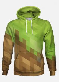 Bluza Full Print - Minecraft (Grass Block, Dirt)