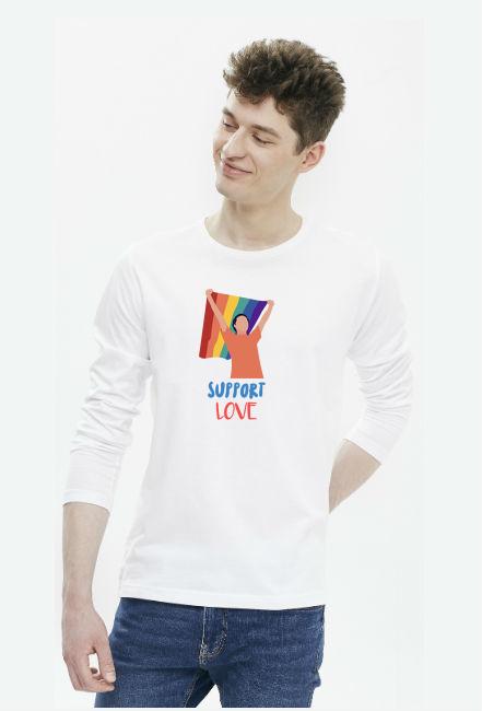Longsleeve męski Support Love Flag