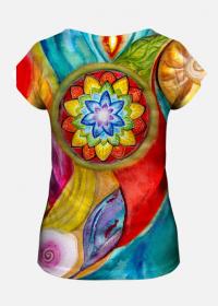 """Koszulka z artystycznym nadrukiem """"Świątynia"""""""
