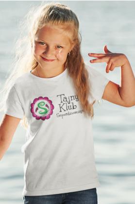 Koszulka dziecięca biała TAJNY KLUB SUPERDZIEWCZYN