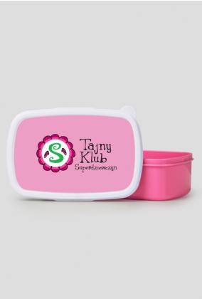 Pudełko śniadaniowe/ lunch box różowa pokrywka TAJNY KLUB SUPERDZIEWCZYN