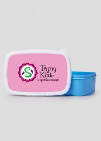 Pudełko śniadaniowe/ lunch box różowo-niebieskie TAJNY KLUB SUPERDZIEWCZYN