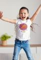 Koszulka dziecięca biała JESTEM SUPERDZIEWCZYNĄ! KOLOR