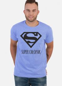 Superman - Super Chłopak - koszulka z czarnym nadrukiem na Dzień Chłopaka