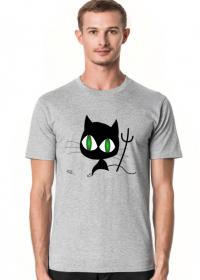 Kot zielone oczy koszulka bawełniana męska