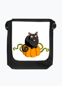 Czarny kot dynia torba na ramię