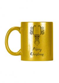 Merry Christmas - złoty kubek z nadrukiem