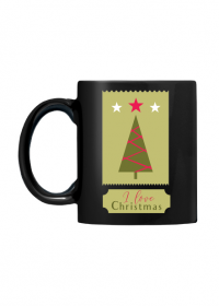 I love Christmas - czarny kubek ze świątecznym nadrukiem