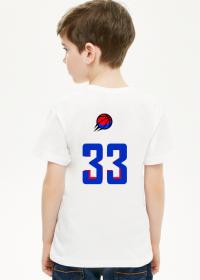 Basketball player RED_BLUE koszulka dziecięca
