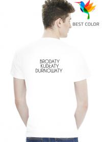 Koszulka Brodaty Kudłaty Durnowaty biała