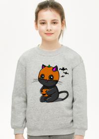 Bluza dziewczęca Halloween Kitku