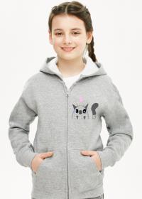 Bluza z kapturem rozpinana Kotek z sreduszkiem