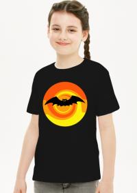 Koszulka dziecięca czarna Nietoperz Halloween