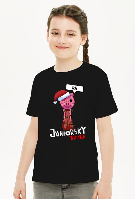 Koszulka Dziecięca - Świąteczna Piggy