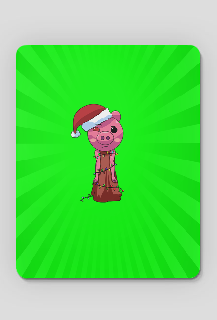 Podkładka pod myszkę - Świąteczna Piggy