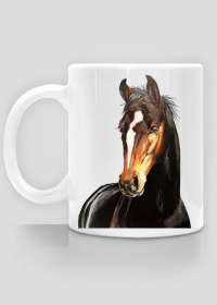 Portret koń kary