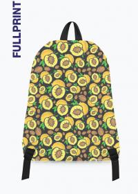 kolorowy plecak z nadrukiem w brzoskwinie