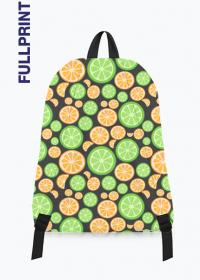 kolorowy plecak z nadrukiem w cytrusy