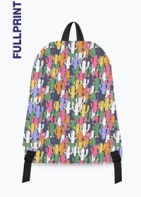 plecak z nadrukiem w kolorowe kaktusy