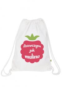 Plecak - worek dla dziewczyny jak maliny