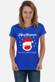 Merry Christmask Baby it's covid outside koszulka świąteczna damska